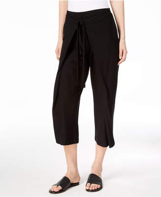 Eileen Fisher Washable Crepe Tie-Front Cropped Pants