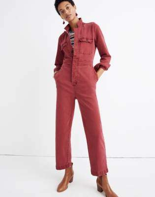 a2b131fe3575 Madewell Garment-Dyed Denim Slim Coverall Jumpsuit