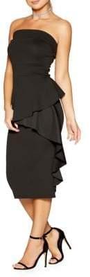 Quiz Strapless Ruffle Midi Dress
