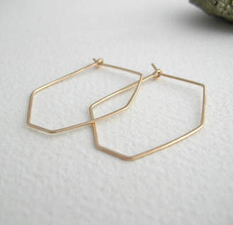 Sarah Hickey Geometric Hoop Earrings