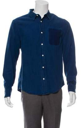 Frame Chambray Button-Up Shirt