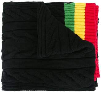 Palm Angels striped edges scarf