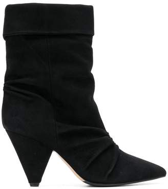 The Seller pointed creased ankle boots
