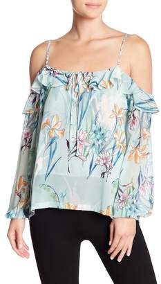 Yumi Kim Adore Me Cold Shoulder Printed Blouse
