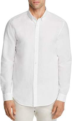 Theory Edward Essential Linen Long Sleeve Button-Down Shirt