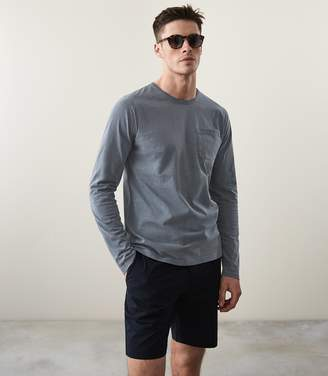 Reiss Bertie Ls Long Sleeved Garment Dyed T-Shirt
