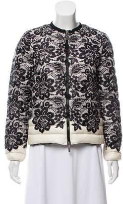 Moncler Petiet Lace Print Down Jacket