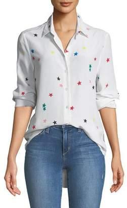 Equipment Essential Star-Print Silk Shirt