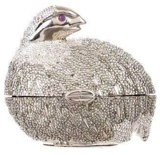 Judith Leiber Crystal-Embellished Bird Minaudière
