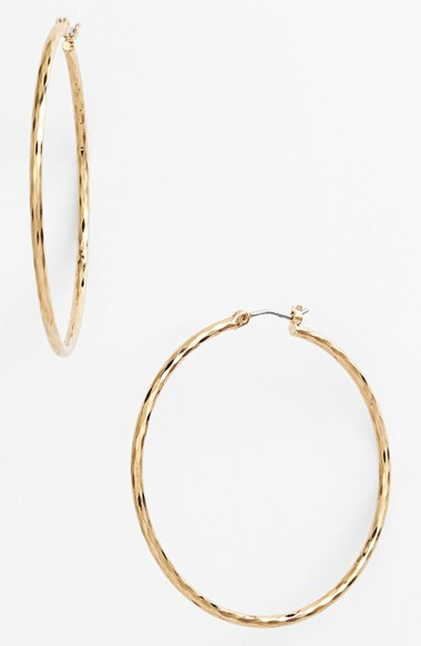 Women's Nordstrom Harlequin Facet Hoop Earrings 5