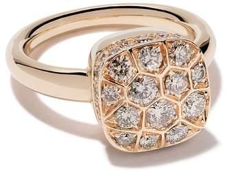Pomellato 18kt rose & white gold Nudo diamond ring