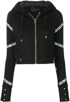 Philipp Plein long sleeved zipped hoodie