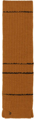 Raf Simons Brown Striped Collar Scarf