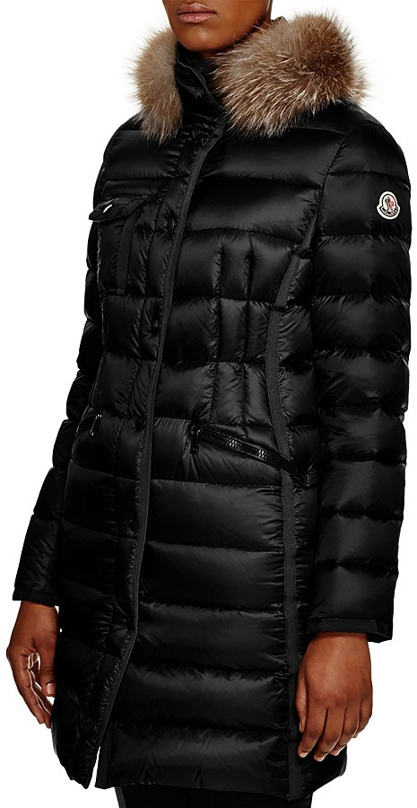 Moncler Moncler Hermifur Fox Fur-Trim Down Coat