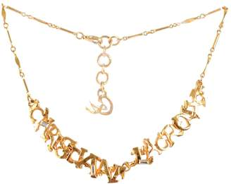 Christian Lacroix Gold Metal Necklace