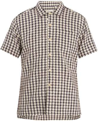 Oliver Spencer Ebley short-sleeved checked cotton shirt