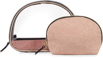 Neiman Marcus Two-Piece Dome Nest Pouch