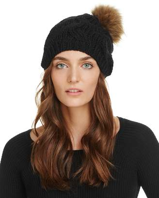 Echo Fur Pom-Pom Beanie - 100% Exclusive