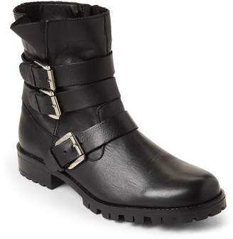 Steve Madden Black Ming Moto Leather Boots