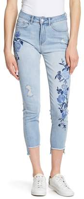 Kensie Floral Embroidered Jeans