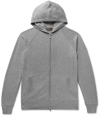 Loro Piana Portland Melange Cashmere And Silk-Blend Zip-Up Hoodie