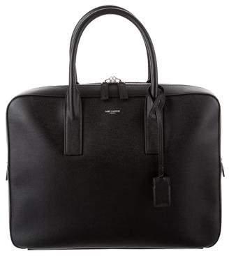 Saint Laurent Leather Museum Briefcase