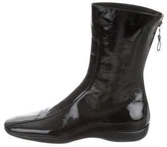 Prada Sport Patent Leather Mid-Calf Boots