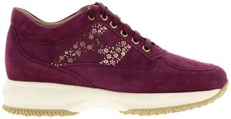Hogan Sneakers Interactive Sneakers In Suede With Flower-shaped Micro Studs