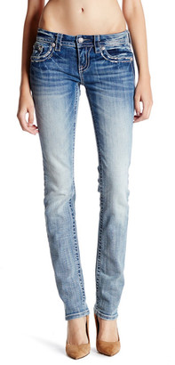 MISS ME Embroidered Straight Leg Jean $104.50 thestylecure.com