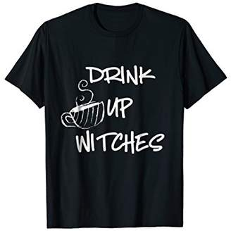Drink up Witches Coffee Halloween Funny T-shirt