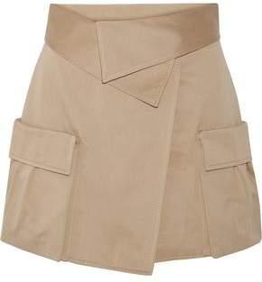 Monse Cotton-Canvas Wrap Mini Skirt