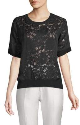 Valentino Floral Lace Tee