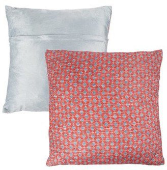 """Modern Geometric Textured Throw Pillow and Insert - Home Decor Diamond Design Accent Pillow Invisible Zipper, 18"""" by Somerset Home"""