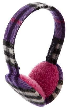 Burberry Cashmere Nova Check Ear Muffs