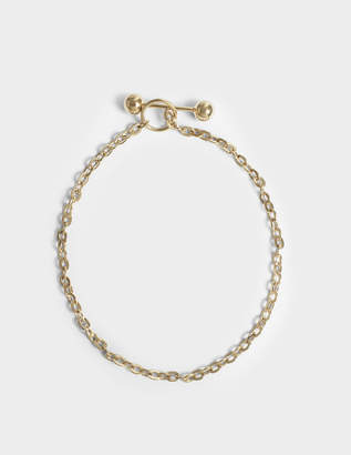 Saskia Diez Barbelle Choker Necklace in 18K Gold-Plated Silver
