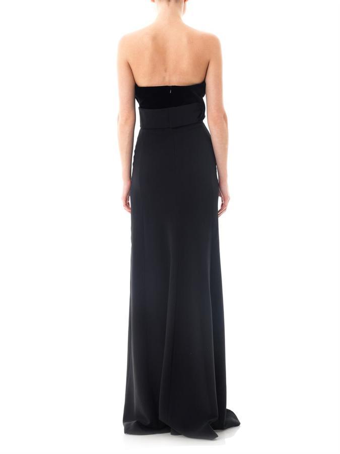 Antonio Berardi Velvet and cady zip front gown