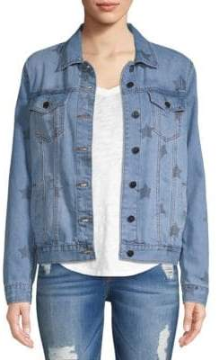 Saks Fifth Avenue RED Indiana Star Denim Jacket