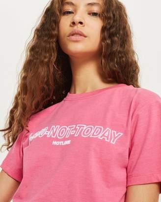 Topshop '1-800-Not Today Hotline' Slogan T-Shirt