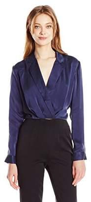 KENDALL + KYLIE Women's Surplice Hi Lo Shirt