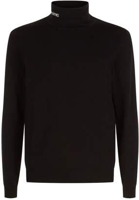 Valentino Intarsia Logo Roll Neck Sweater
