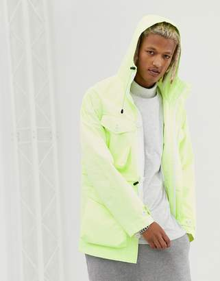 Asos Design DESIGN parka jacket in fluro yellow