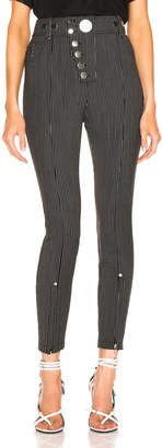Alexander Wang High Waisted Snapdetail Legging in Black | FWRD