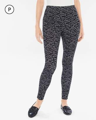 Zenergy So Slimming Petite Scripted Leggings