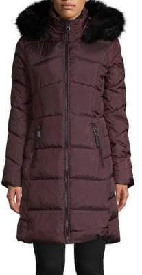 Calvin Klein Faux Fur Trimmed Hood Parka Jacket