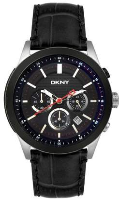 DKNY Men's NY1420 Chronograph Stainless Steel and Leather Watch