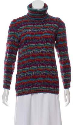 Missoni Wool and Mohair Pattern Turtleneck