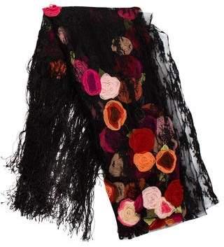 Valentino Floral Lace Shawl