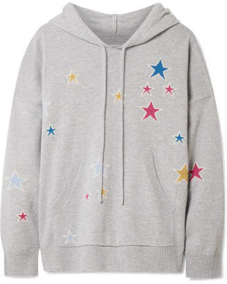 Chinti and Parker Acid Star Cashmere Hooded Top - Gray