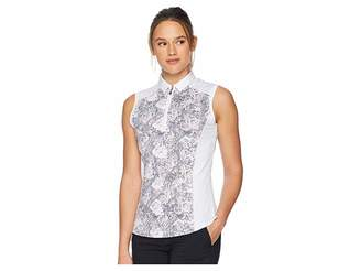 Callaway Sleeveless Dotted Blossom Print Polo Women's Sleeveless