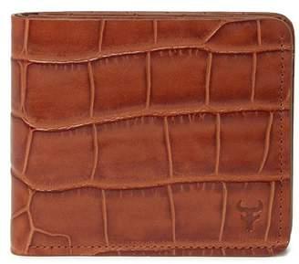 fd4a3030921837 Trask Jackson Croc Embossed Leather Slim Bifold Wallet